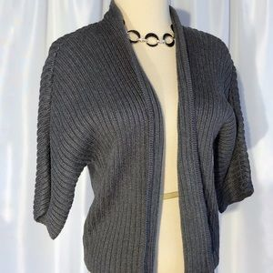 Worthington Thick Knit Open Front Cardigan Sweater